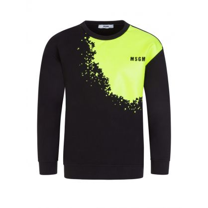 Kids Black Splash Logo Sweatshirt