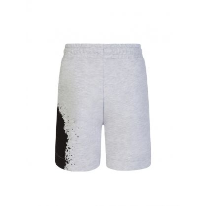 Kids Grey Fleece Splash Logo Shorts