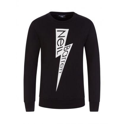 Kids Black Lightning Logo Sweatshirt