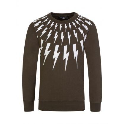 Kids Green Thunderbolts Sweatshirt