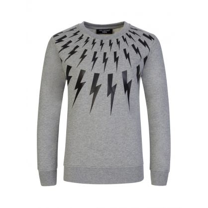 Kids Grey Lightning Sweatshirt
