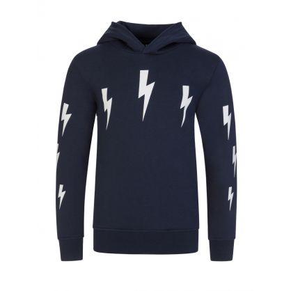 Kids Navy Lightning Hoodie