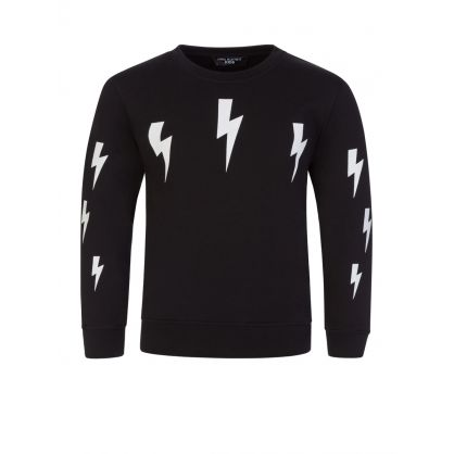 Kids Black Multi Lightning Sweatshirt