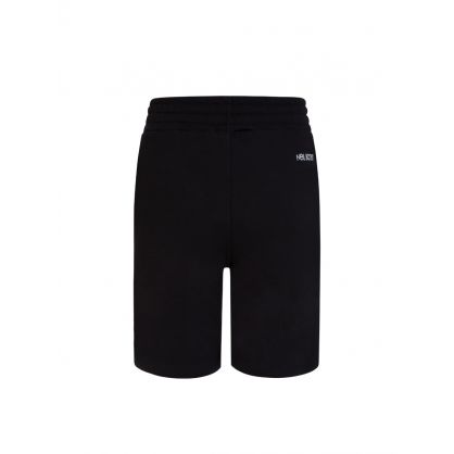 Kids Black Colourful Thunderbolts Fleece Shorts
