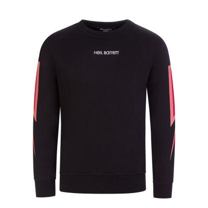 Kids Black Thunderbolt Sweatshirt