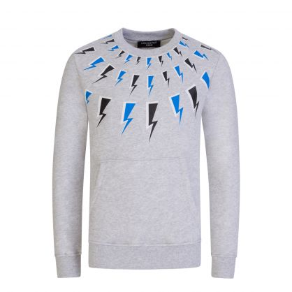 Kids Grey Thunderbolt Sweatshirt