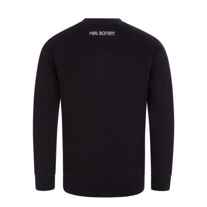 Kids Black/Pink Thunderbolt Sweatshirt