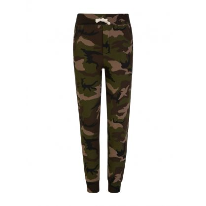 Kids Green Camo Sweatpants