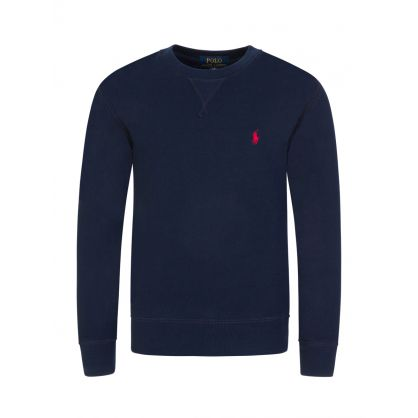 Kids Navy Classic Fleece Sweatshirt