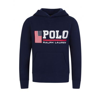 Kids Navy Polo Sport Fleece Hoodie