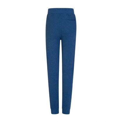 Kids Blue Cotton Mesh Jogger Sweatpants