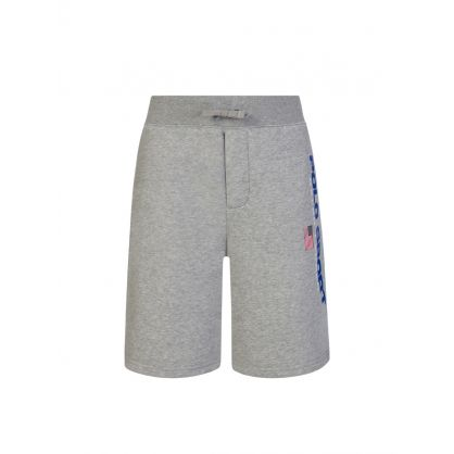 Kids Grey Polo Sport Fleece Shorts