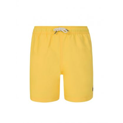 Kids Yellow Traveler Swim Shorts