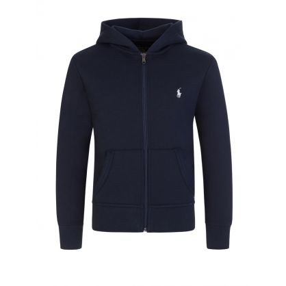 Kids Navy Zip-Through