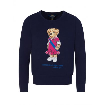 Kids Navy Bear Fleece Sweatshirt