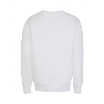 Kids White Fleece Jumper