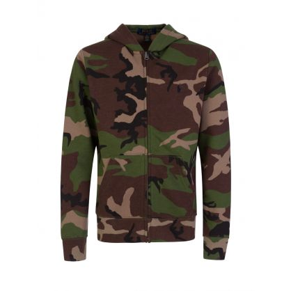 Kids Green Camo Zip-Through