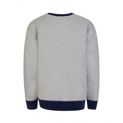 Kids Grey Logo Fleece Sweatshirt