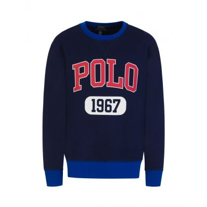 Kids Navy POLO 1967  Fleece Sweatshirt