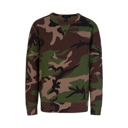 Kids Brown Camo Fleece Sweatshirt