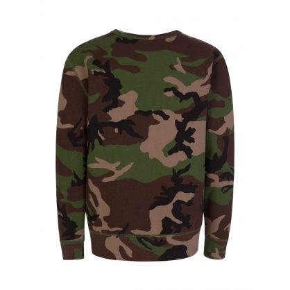 Kids Brown Camo Fleece Sweatshirt