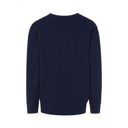 Kids Navy Fleece Sweatshirt