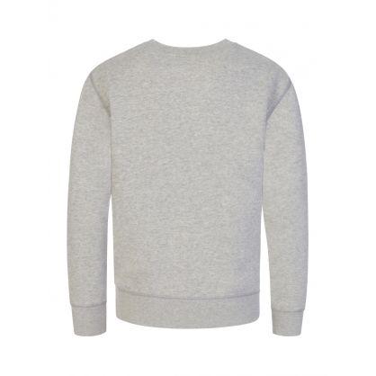 Kids Grey Big Pony Logo Fleece Sweatshirt