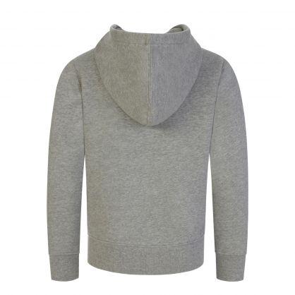 Kids Grey Fleece Zip-Through Hoodie