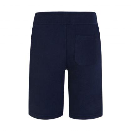 Navy Fleece Shorts