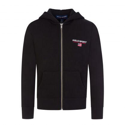 Black Fleece Zip-Through Hoodie