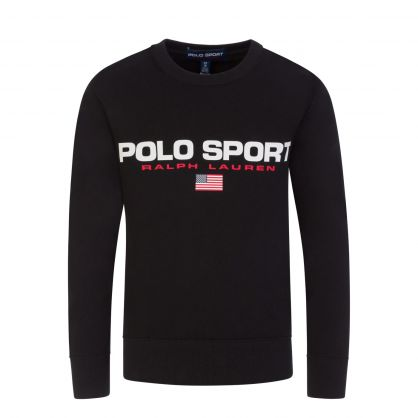 Black Fleece Logo Sweatshirt