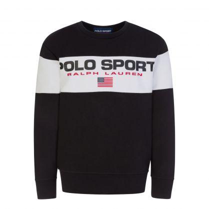 Black Logo Strip Sweatshirt