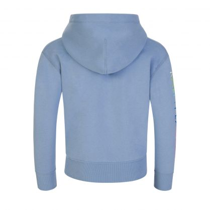 Kids Light Blue Ombre Logo Fleece Hoodie