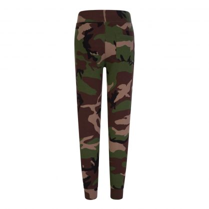 Kids Green Camo Fleece Sweatpants