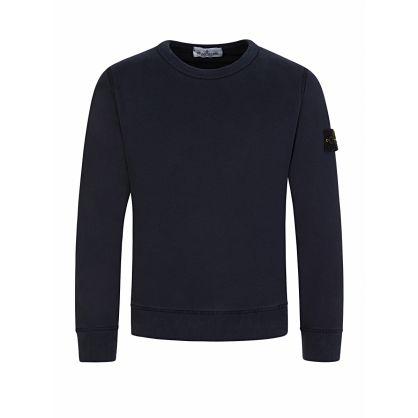 Junior Navy Compass Sleeve Sweatshirt