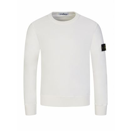 Junior White Compass Badge Sweatshirt
