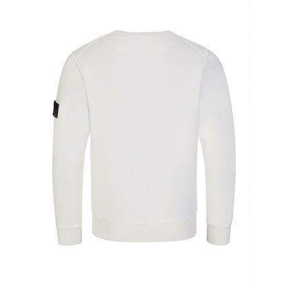 Junior White Compass Badge Sweatshirt