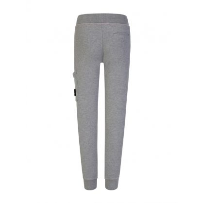Junior Grey Fleece Logo Sweatpants