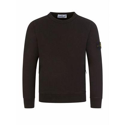 Junior Black Essential Compass Sweatshirt