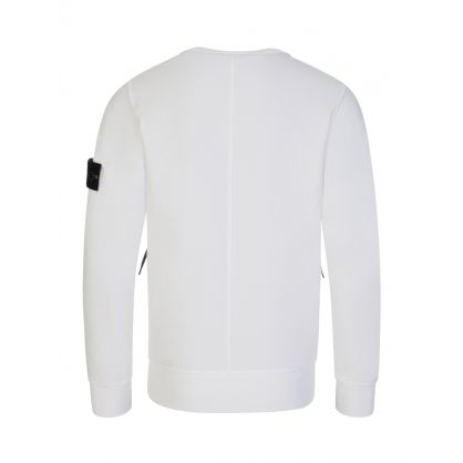 Junior White Zipped Pocket Sweatshirt