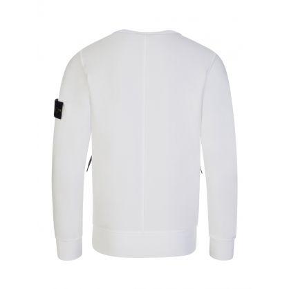 Junior White Zipped Pocket Sweatshirt