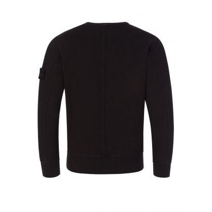 Junior Black Chest Pocket Sweatshirt