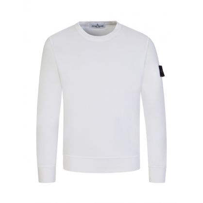 Junior White Cotton Sweatshirt