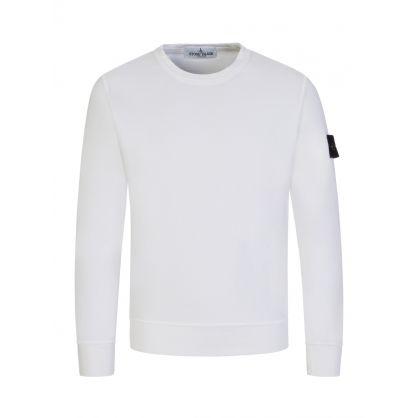 Junior White Cotton Sweatshirt