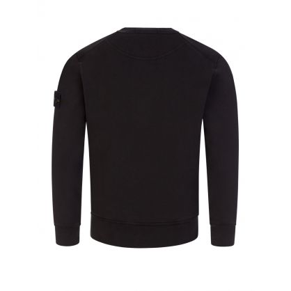 Junior Black Compass Sleeve Sweatshirt