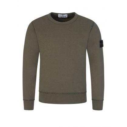 Junior Green Utility Sweatshirt