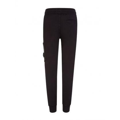Junior Black Cotton Sweatpants