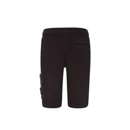 Junior Black Cargo Pocket Sweat shorts