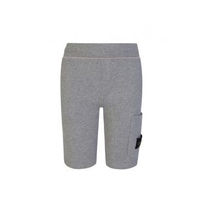 Junior Grey Pocket Sweat Shorts
