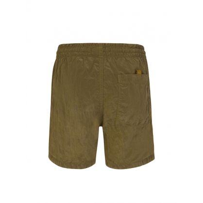 Green Compass Patch Logo Swim Shorts